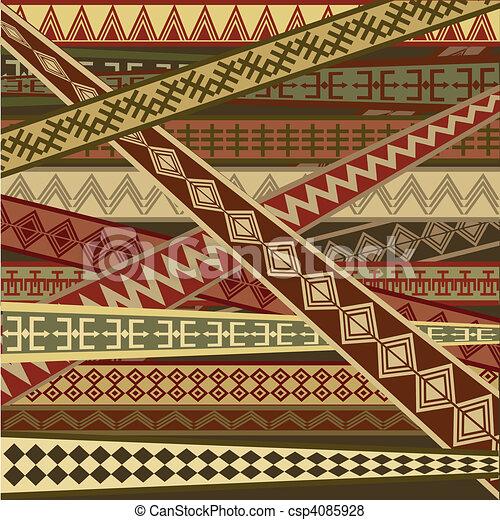 abstrakt, struktur, etnisk - csp4085928