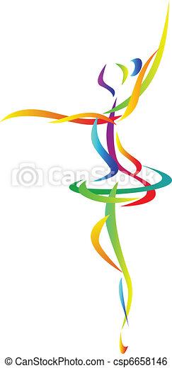abstrakt, tänzer, ballett - csp6658146