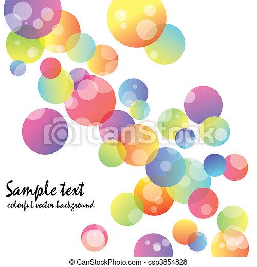 abstrakt, tapete, kreis, bunte - csp3854828