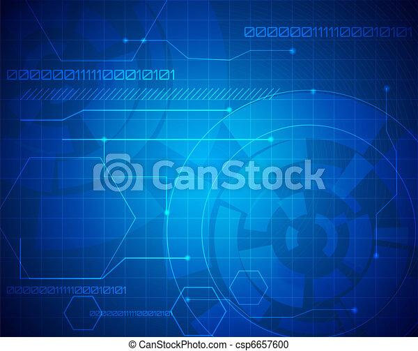 abstrakt, technologie, hintergrund - csp6657600