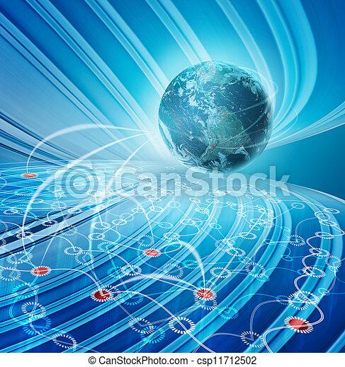 abstrakt, technologieabbildung - csp11712502