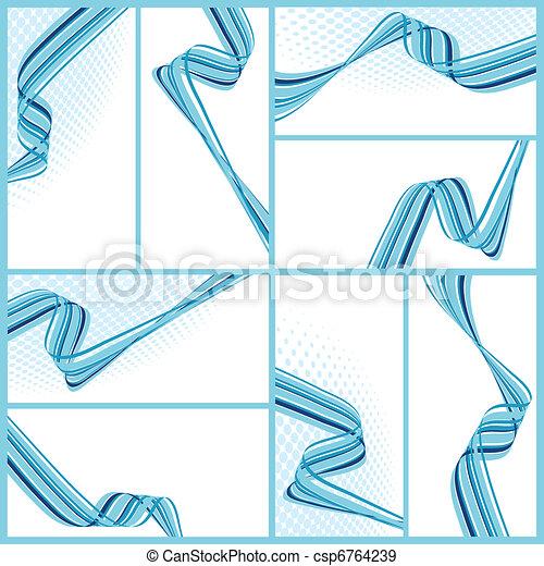 abstrakt, vågig, bakgrunder - csp6764239