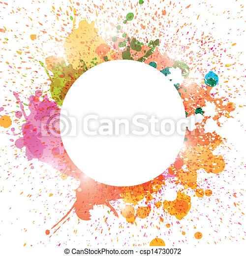 abstrakt, vektor, stänk, bakgrund - csp14730072