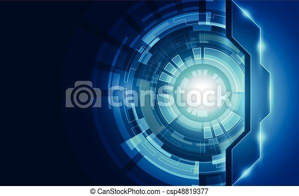 abstrakt, vektor, technologie, concept., hintergrund - csp48819377