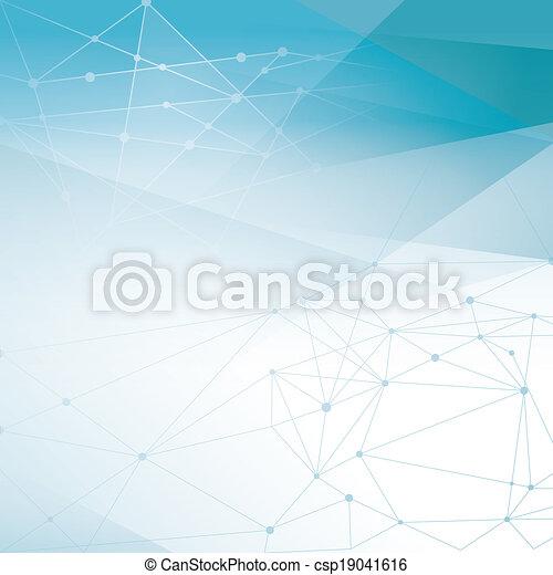 Abstract Netzwerk Hintergrund - csp19041616