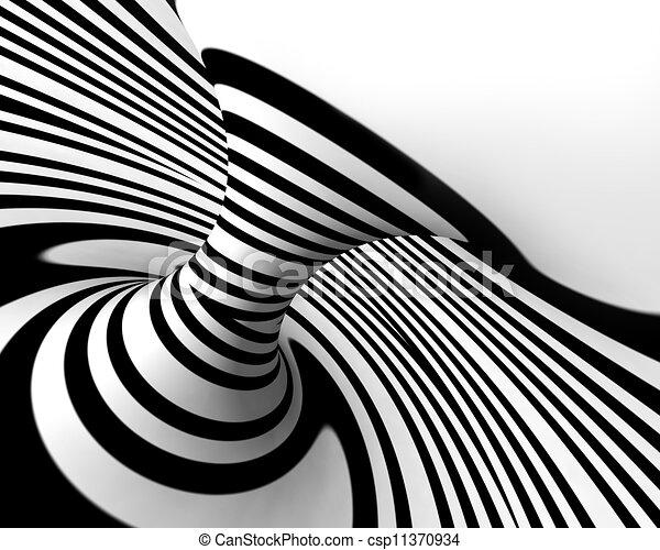 abstrakt, weißes, schwarz, spirale, hintergrund - csp11370934