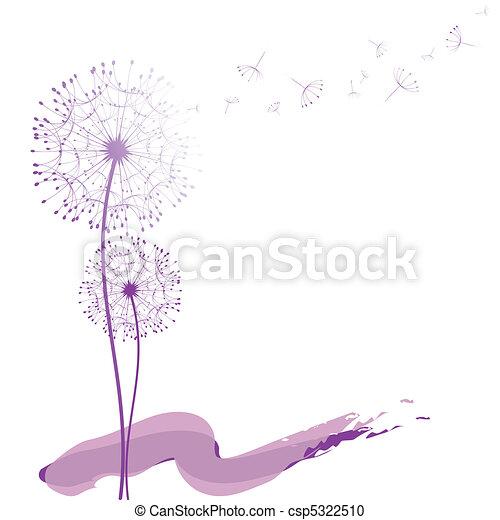Abstract Dandelion im Wind - csp5322510