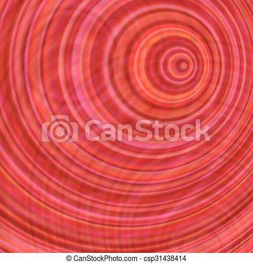 Abstraktes design, hintergrund, kreis, konzentrisch, rotes Vektor ...