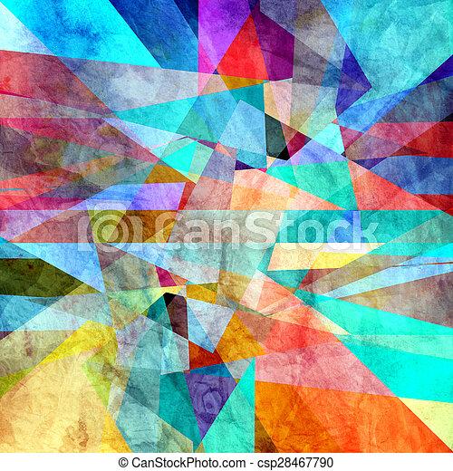 abstraktní, grafické pozadí - csp28467790