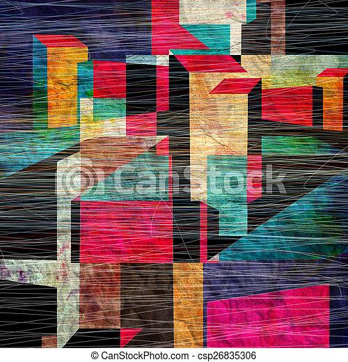 abstraktní, grafické pozadí - csp26835306