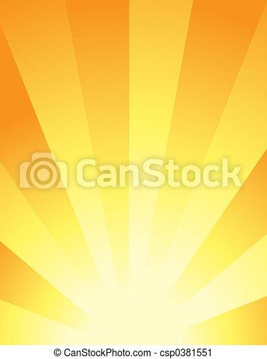 abstraktní, -, grafické pozadí, východ slunce - csp0381551