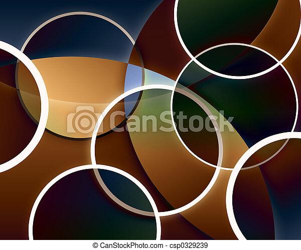 abstraktní, kruh, grafické pozadí - csp0329239