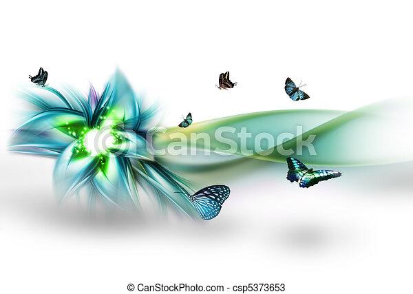 abstraktní, květ - csp5373653