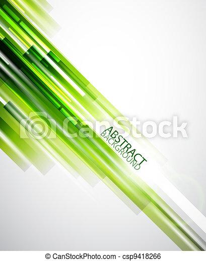 abstrato verde, linhas, fundo - csp9418266