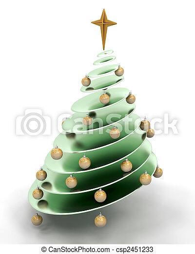 abstratos, árvore, natal - csp2451233