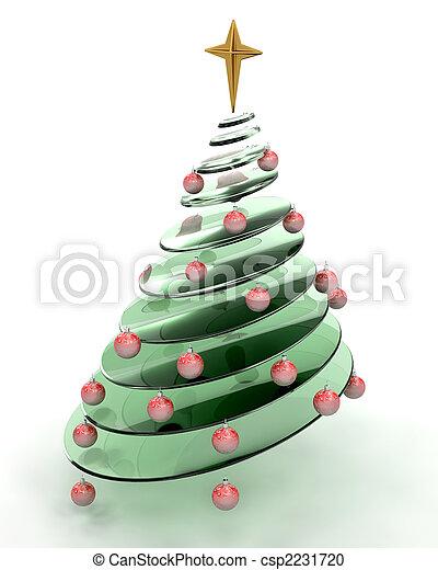 abstratos, árvore, natal - csp2231720