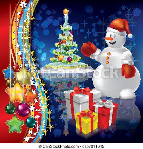 abstratos, árvore, natal, fundo - csp7011645