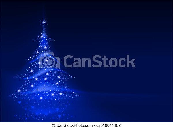 abstratos, árvore, natal - csp10044462