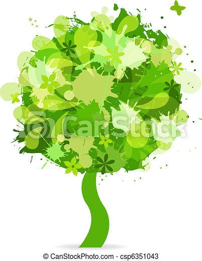 abstratos, árvore - csp6351043