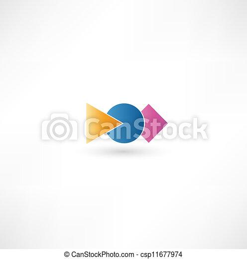 abstratos, ícones negócio - csp11677974