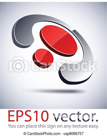 abstratos, 3d, logo., negócio, anel - csp8066757