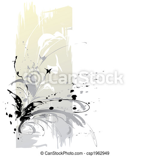 abstratos, borboletas, fundo - csp1962949