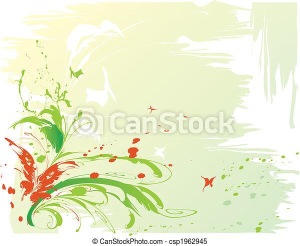 abstratos, borboletas, fundo - csp1962945