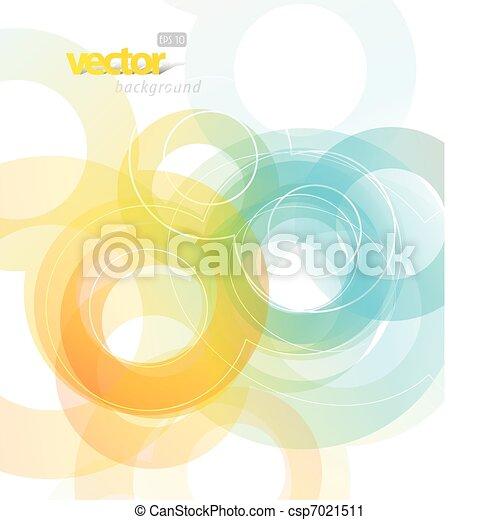 abstratos, circles., ilustração - csp7021511