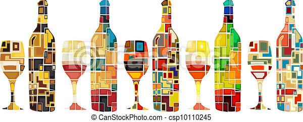 abstratos, cobrança, vinho - csp10110245
