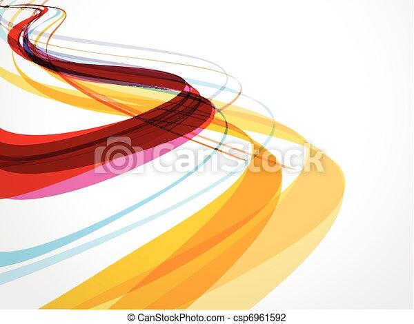 abstratos, composição, fundo, onda - csp6961592