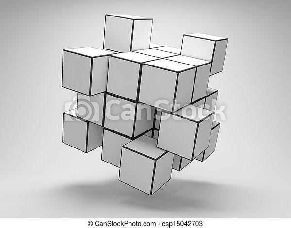 abstratos, cubos - csp15042703