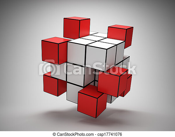 abstratos, cubos, desenho - csp17741076