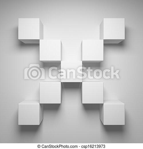abstratos, cubos - csp16213973