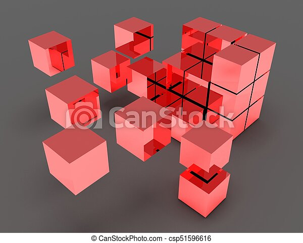 abstratos, cubos - csp51596616