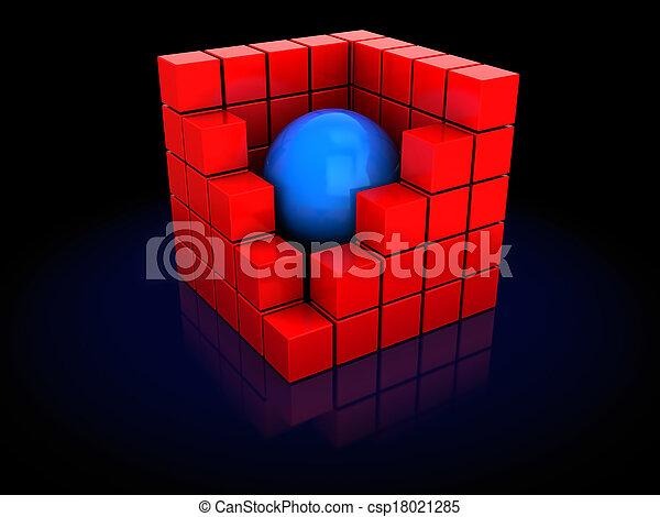 abstratos, cubos - csp18021285
