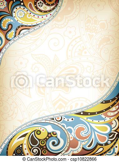 abstratos, curva, fundo - csp10822866