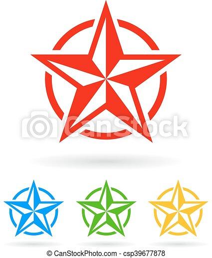 abstratos, estrela, ícone - csp39677878