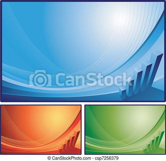 abstratos, finanças, fundo - csp7256379