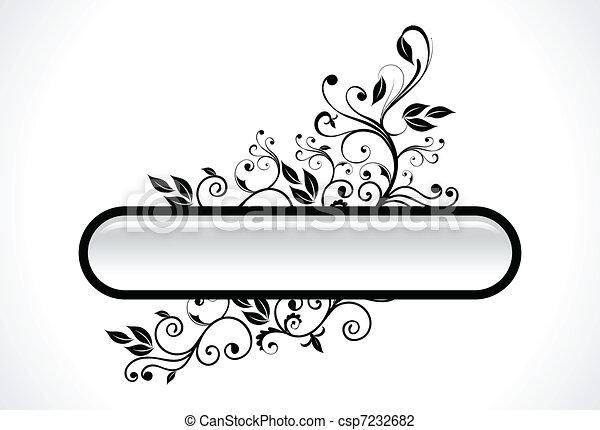 abstratos, floral - csp7232682