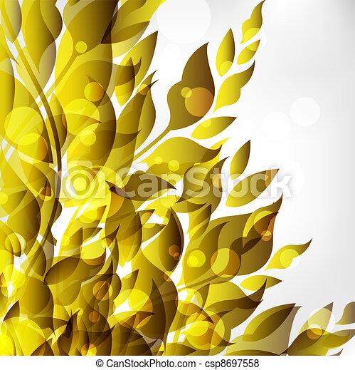 abstratos, floral - csp8697558