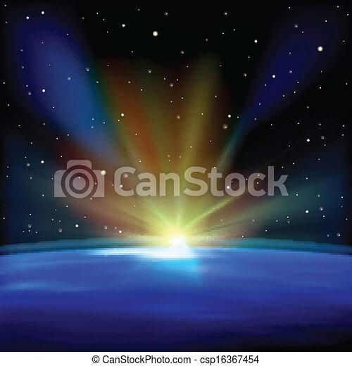 abstratos, fundo, estrelas, espaço - csp16367454
