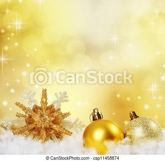 abstratos, fundo, feriado, borda, natal, design. - csp11458874