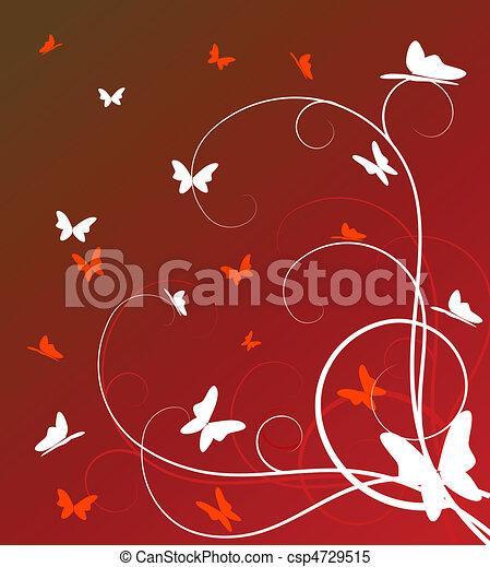 abstratos, fundo, floral - csp4729515