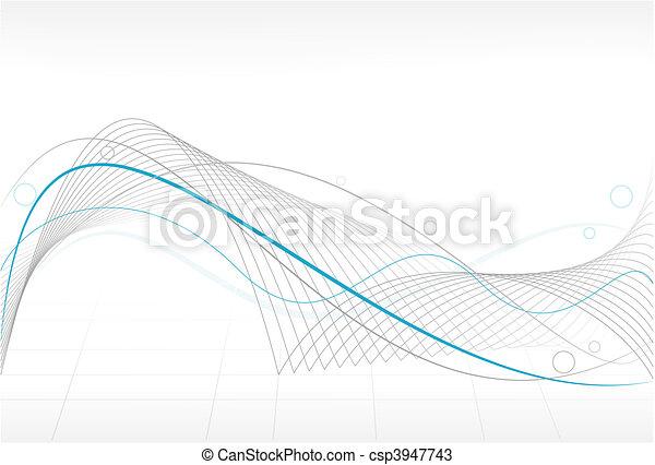 abstratos, fundo, onda - csp3947743