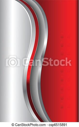 abstratos, fundo, vermelho, metálico - csp6515891