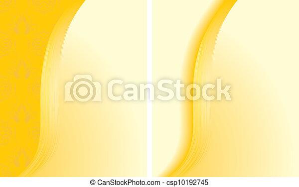 abstratos, fundos, dois, amarela - csp10192745