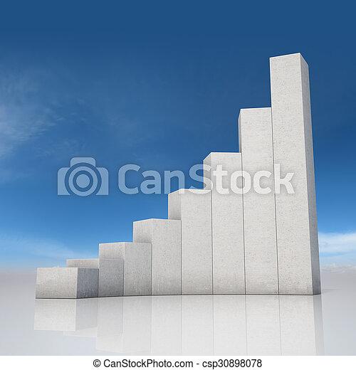 abstratos, gráfico, crescimento - csp30898078