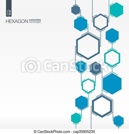 abstratos, hexágono, polígonos, fundo, integrada - csp35905230