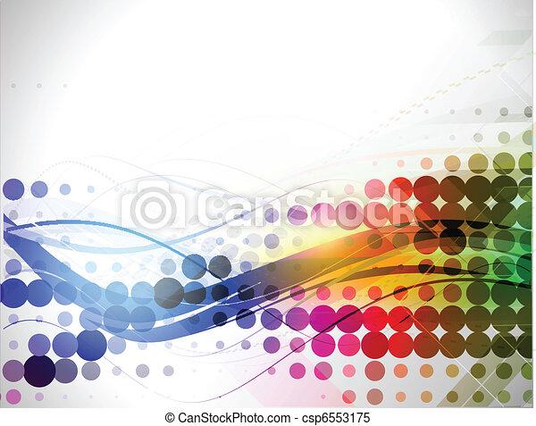 abstratos, linha, fundo - csp6553175