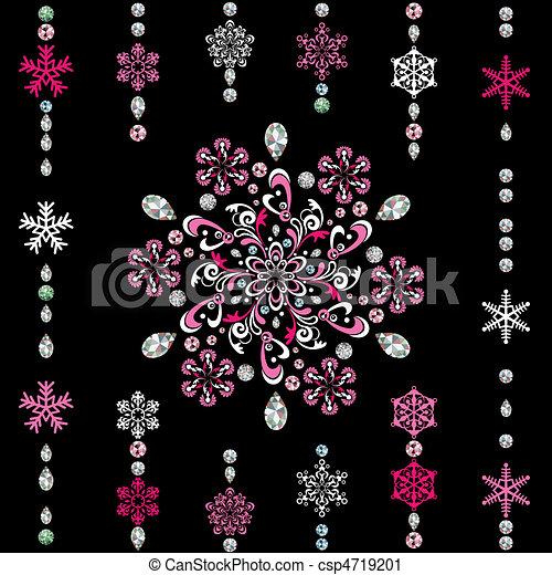abstratos, luxo, snowflake - csp4719201